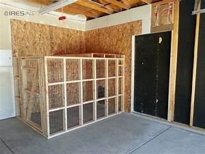 Doggy run inside garage with dog door to go inside or for Dog door options