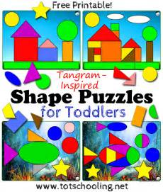 Printable Tangram Shape Puzzles for Toddlers