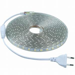 Eclairage Led En Ruban : ruban led 220v 5050 ip68 60led m ~ Premium-room.com Idées de Décoration