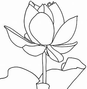 Lotus Clip Art Image Black And White 【2018】