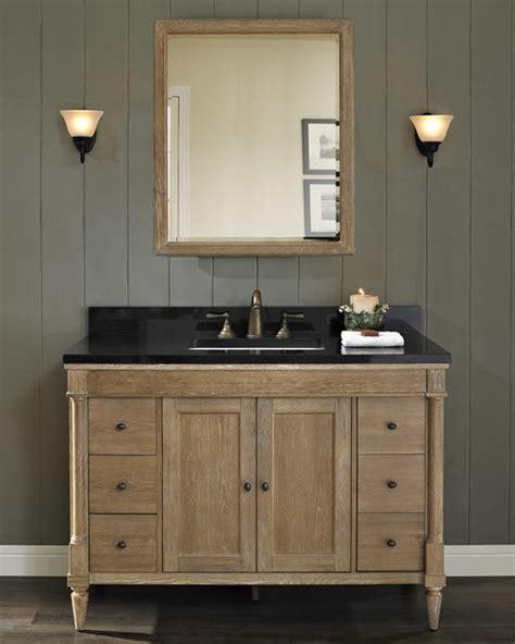 fairmont rustic chic  vanity modern bathroom