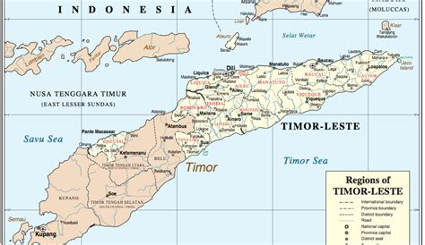 timor leste map   region unmit