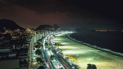 Cinemagraph Photoshop Night Copacabana Rio Beach Brazil