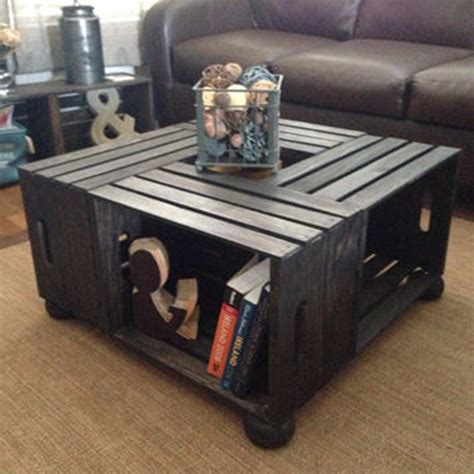 diy wood crate coffee table  plans picture instructions