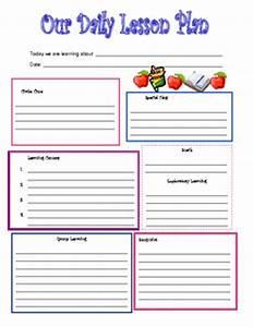 preschool daily lesson plan template by kari lostocco tpt With daily lesson plan template for kindergarten