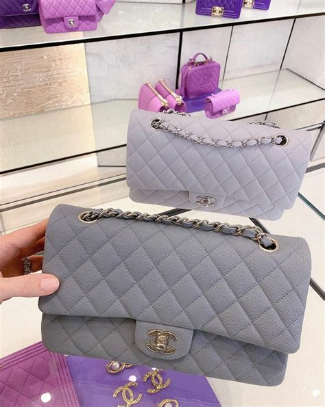 chanel grey caviar bags  cruise  spotted fashion