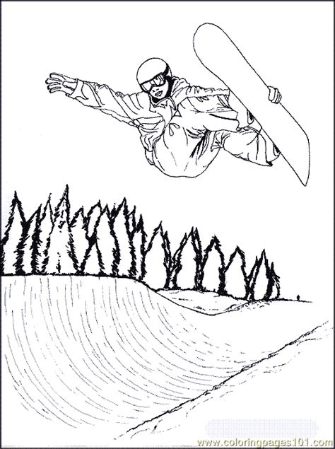 snowboarding coloring page  coloring page   coloring pages coloringpagescom