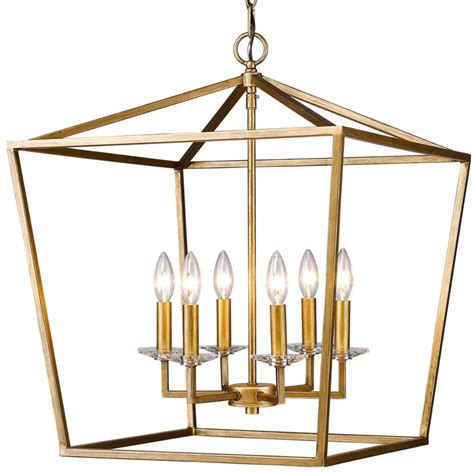 kennedy antique gold lantern pendant light 20 quot wx24 quot h in11130ag