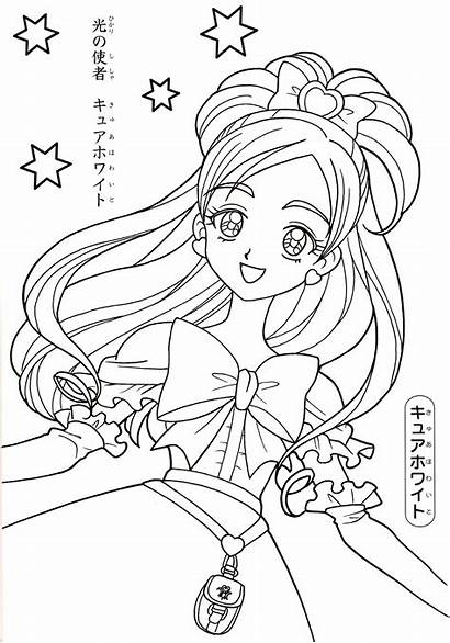 Anime Coloring Cure Pages Printable Sheets Precure
