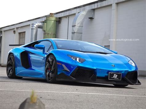 Chrome Blue Aventador By Sr Auto Comes With Limited
