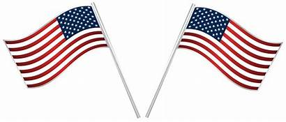 Clip Flags Usa Clipart July 4th Transparent