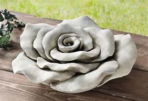 Deko Garten Stein : garten deko steinbl te rose aus stein 39 cm steinrose rosenbl te grabschmuck kaufen bei ~ Markanthonyermac.com Haus und Dekorationen