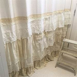 My Bohemian Bathroom with Vintage Lace ~ Hallstrom Home