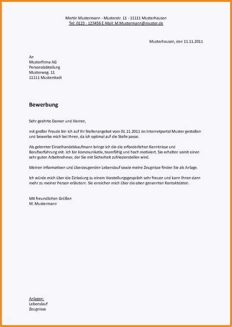 Schriftliche Bewerbung by Schriftliche Bewerbung Muster Kostenlos Bewerbungsschreiben