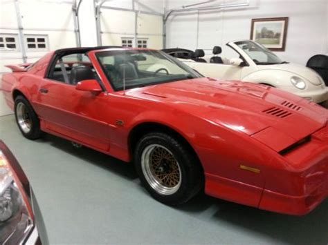 car engine manuals 1988 pontiac firebird seat position control sell used 1988 pontiac firebird trans am gta v8 rare 5 speed manual t tops red low miles in