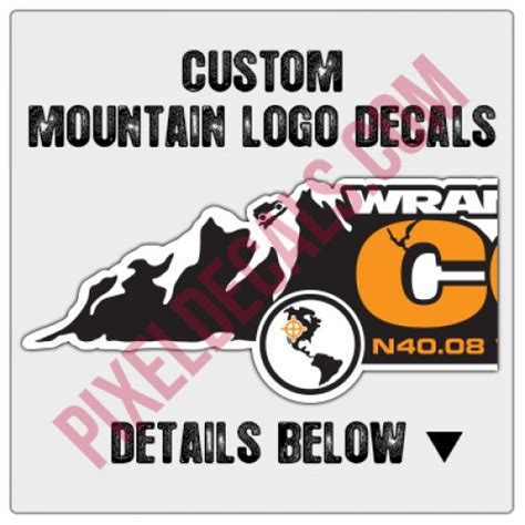 mountain jeep logo custom mountain logo decals