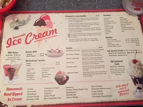 menu  harshbargers   malt restaurant mc