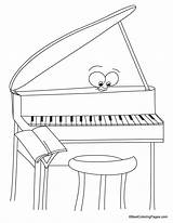 Coloring Piano Pages Sheets Bestcoloringpages Drawings sketch template