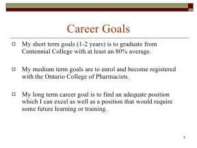 Career Goals Examples Statements