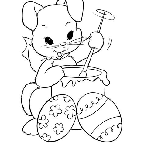 places   bunny coloring pages