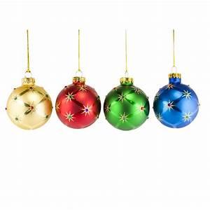 Christmas Tree Ball Ornaments - Invitation Template