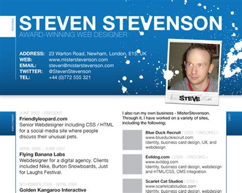 Websites That Help Make Resumes by How To Create A Great Web Designer R 233 Sum 233 And Cv