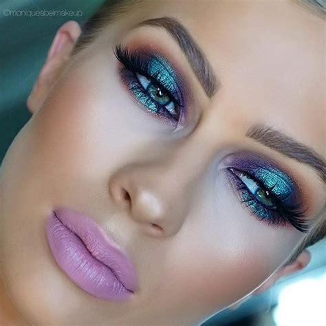 iridescent metallic makeup  reminds    futuristic early  matte