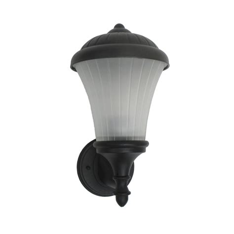 black with frosted melon glass exterior wall light ebay