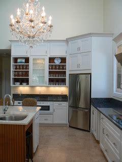 corner refrigerator traditional kitchen   esprit design