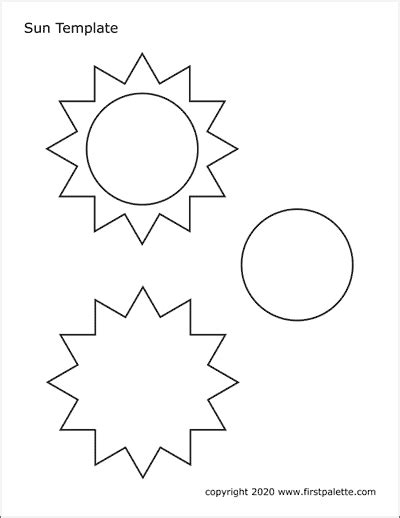 sun  printable templates coloring pages firstpalettecom
