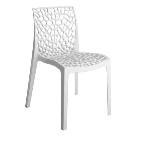 chaise plastique blanche chaise de jardin en résine grafik blanc leroy merlin