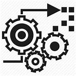 Processing Icon Gear Vectorified Assistant Officer Opening