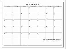 Kalender november 2018 53MZ Michel Zbinden nl