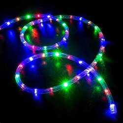 50 multi color rgb led rope light home outdoor christmas lighting wyz works