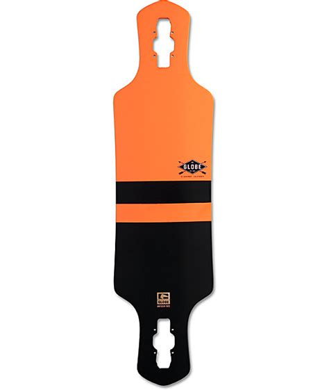 Drop Deck Longboard Zumiez by Globe Geminon Orange 35 Quot Drop Through Longboard Deck At