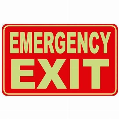 Exit Signs Sign Emergency Dark Glow Plastic