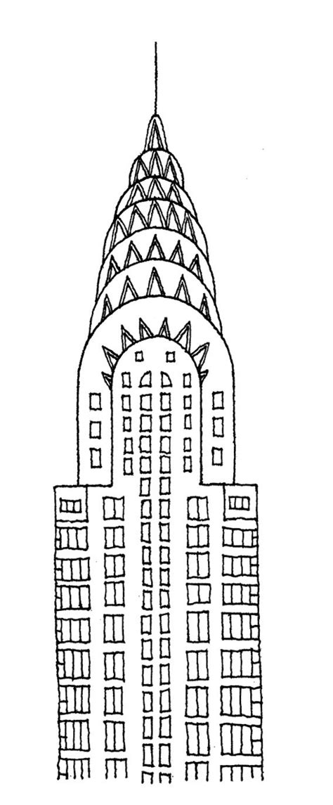 chrysler building drawing architectural drawings