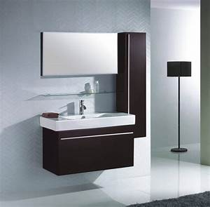 deco salle de bain avec meuble wenge With deco meuble de salle de bain