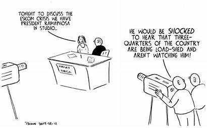 Cartoon Eskom Shock February