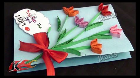 diy paper quilling greeting card  mothers day jk