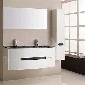 meuble verre guide d39achat With porte de douche coulissante avec ensemble vasque meuble salle de bain pas cher
