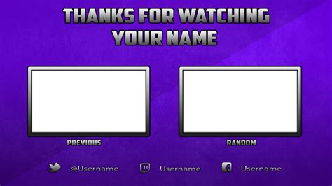 Outro Template Free Outro Template Photoshop By Dazgames On