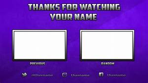 Free youtube outro template photoshop by dazgames on deviantart for Free outro template