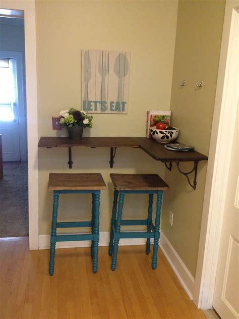 Kitchen Bar Table by My New Diy Kitchen Bar Thicker Shelf With Wooden Brackets