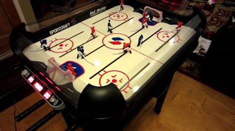 sportcraft 14 in 1 game table sportcraft electronic rod hockey youtube
