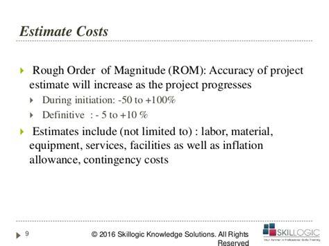pmp training project cost management part