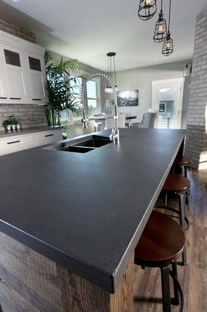 image result      black concrete countertop
