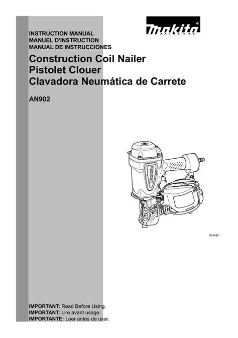 Makita AN902 Use and Care Manual | Manualzz