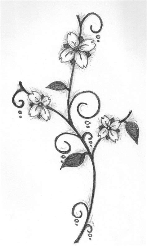 simple flower drawing  pencil  images simple