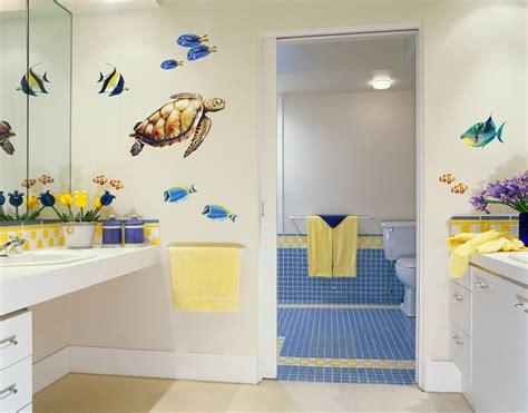 bold wall art sea turtle  reef fish wall decal set